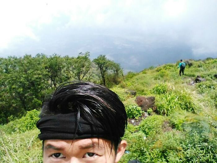 Mountain Tampomas Men Mountain Headshot Tree Hiking Rear View Sky Close-up Mountain Range Mountain Road Snowcapped Mountain Hiker Hiking Pole Backpack Mountain Peak Physical Geography First Eyeem Photo This Is Masculinity EyeEmNewHere
