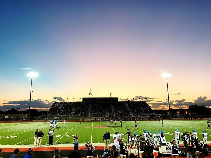 Large Group Of People Sport Real People Playing Spectator Men Team Sport Floodlight Stadium Competitive Sport Leisure Activity Playing Field Sportsman Sports Team Competition Enjoyment Togetherness Lifestyles Sky Outdoors Friday Night Lights Texas High School Football Memories