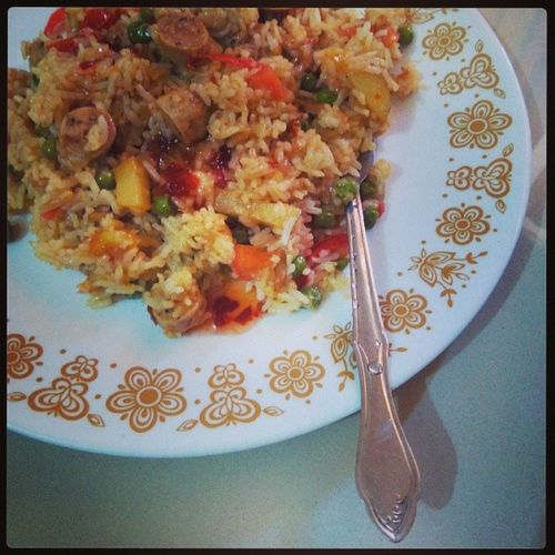 SunFun! Sundaytreat Motherscooking Sausages Sausagepulav delicious food foodporn homemade mymomthebest chicken instalike instahappiness 100happydays instafood
