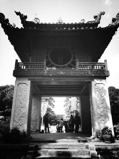 Blackandwhite Temple
