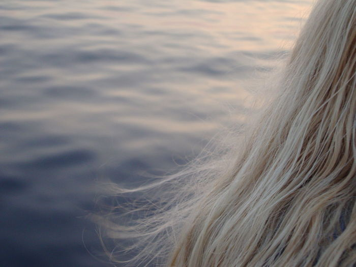 Woman hair with sea background Blond Hair Close-up Day Nature Outdoors Sea Summer Woman Hair