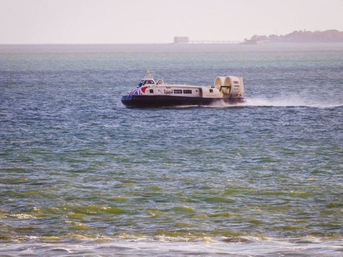 Bembridge Bembridg Lighthouse In Background EyeEm Best Shots - Nature EyeEm Nature Lover EyeEm Best Shots Hovercraft Nautical Vessel Sea Ferry Business Business Finance And Industry Social Issues Water Passenger Craft Coast Shore Tourboat