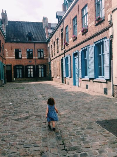 Architecture Building Exterior Built Structure Child Childhood Day Full Length Lille One Person Outdoors People Run Sky Window