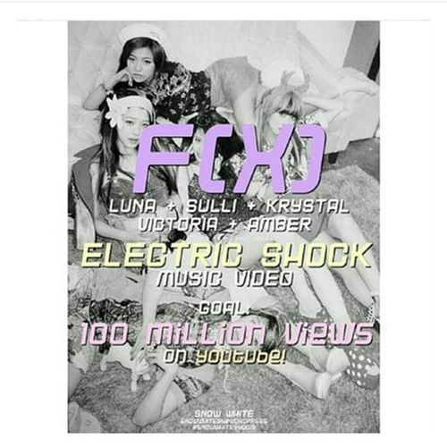 "Hi friends!! please help f(x)'s ""Electric Shock"" MV to reach 100 million views, please help us, even if they're not your bias group, please 💕💞🙏😖 FX Sulli Chơi Krystal jung victoriasong song ajol llama amber liu luna sunyoung getelectricshockto100million"