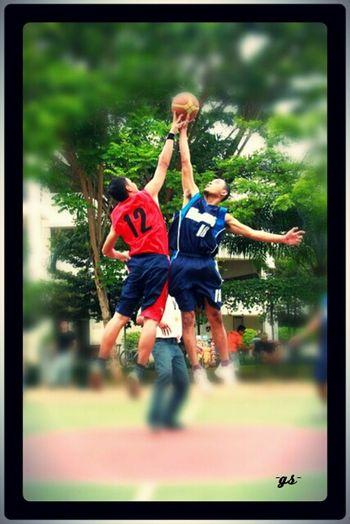 "Team__(4) ""Jump-ball"" Basketball Portrait Enjoying Life"