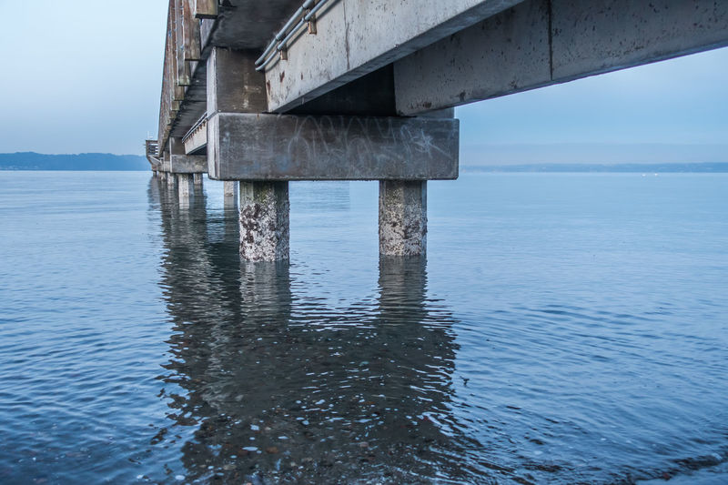 Beneath the pier at Dash Point, Washington. Ocean View Pier Architecture Beauty In Nature Bridge - Man Made Structure Built Structure Dash Point Day Horizon Over Water Nature No People Ocean Outdoors Scenics Sea Sky Tranquility Underneath Water Waterfront
