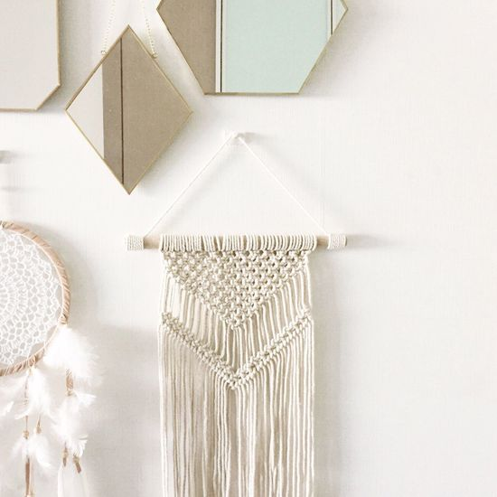 Indoors  White Color Home Interior White Background Makrame Dreamcatcher Walldecoration Mirror Fresh On Market 2017