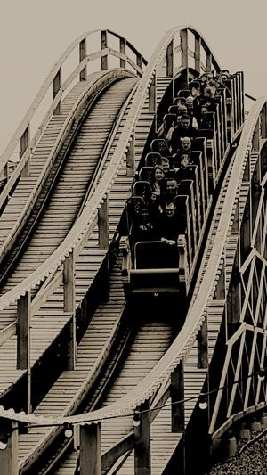 Vintage Rollercoaster Scenic Railway Vintage Rollercoaster Black And White Rollercoaster Vintage Margate UK Dreamland Margate Fun Day Out Architecture EyeEmNewHere