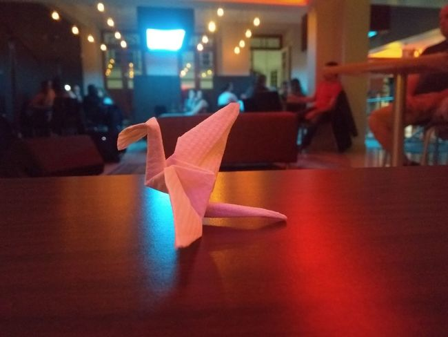 Origami Origami Cranes Illuminated Close-up Night Indoors  Christmas Built Structure Christmas Decoration No People Architecture