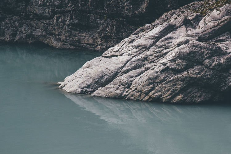Rock formation in water