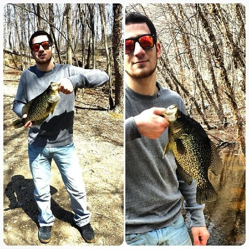 Catching giant crappie is pretty crappie,great way to be less depressed Crappie Fluke  Calico Catchandrelease PANFISH Hugecrappie Giants Lake Greatoutdoors Fishing Fish Monsters Fun Awesome Water Beautifulday Nofilter Crap Love Bassfishing Alldaylong Goodday