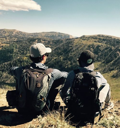 Second Acts Two People Rear View Mountain Men Real People Adventure Landscape Sky Day Togetherness Outdoors Friendship Nature People Be. Ready.