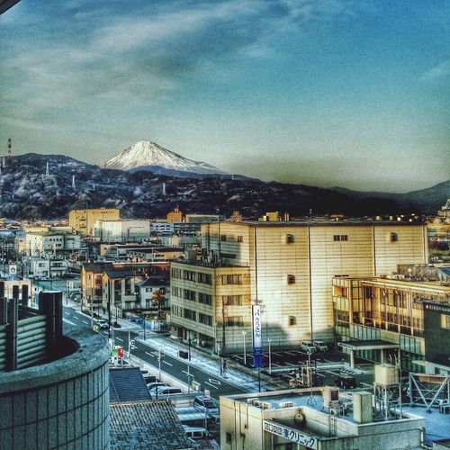 Cityscape Sunset Shimizu Shizuoka Phoneography HDR Mount FuJi view Hdr_Collection