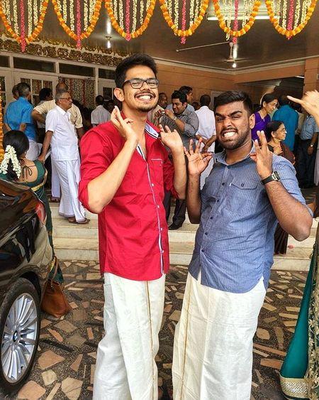 Things NOT to do at a Mallu wedding - 1. This pose 😂😂 MumbaiMachaans Thalaivaa YennaRascala Mindit 😎😎 Pic Credits - @ashay305