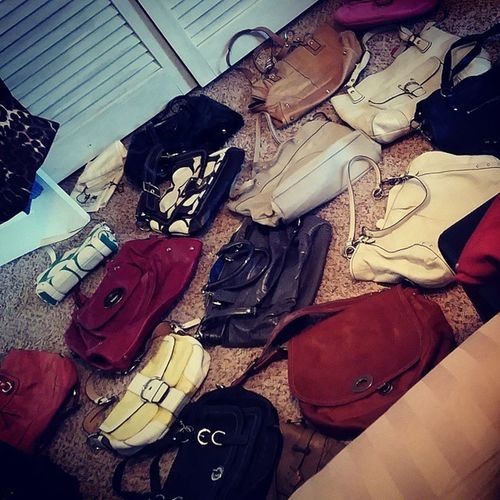 So the the only downside to making room for the baby.... is giving up my coach purse closet! ItsWorthIt Ebayhereicome Ihaveanaddiction Goingoutofbusiness