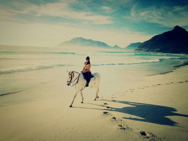 Check This Out Noordhoek Southafrica MyAdventure White Horse Enjoying Life Horsebackriding  Beachphotography Beach Life EyeEm Nature Lover