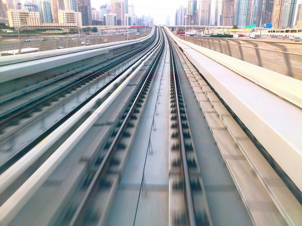 Speeding to the future.Metro Cityscapes Dubai Railways_of_our_world Speed Life In Motion Envision The Future Monorail  Rails Trains Moving Speedphotography Speeding Trains Railway Track To The City Traveling Transport Go To The City The Architect - 2017 EyeEm Awards The Great Outdoors - 2017 EyeEm Awards Lets Go. Together. The Week On EyeEm Been There. Done That. Stories From The City