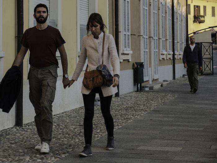 Full length of men walking outdoors