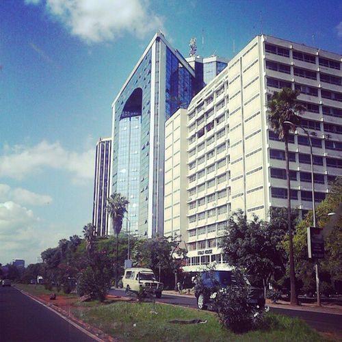 Along Uhuruhighway Nairobi Kenya365 Sundaydrive wit @awmuhia & sis