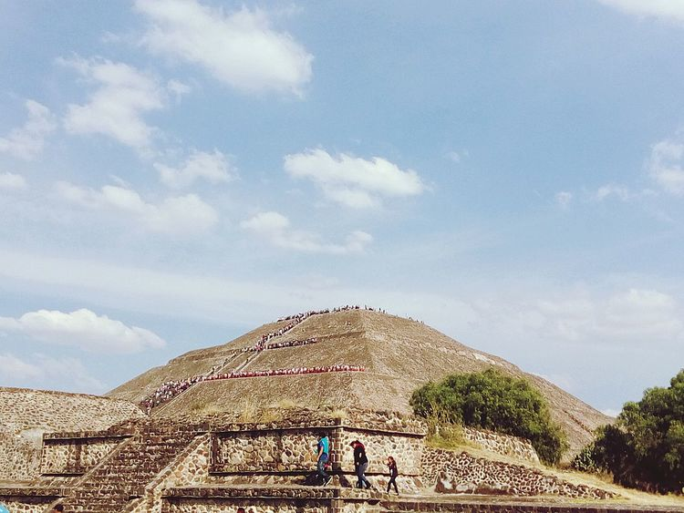 Piramide Del Sol Teotihuacan Azteca Mexico First Eyeem Photo