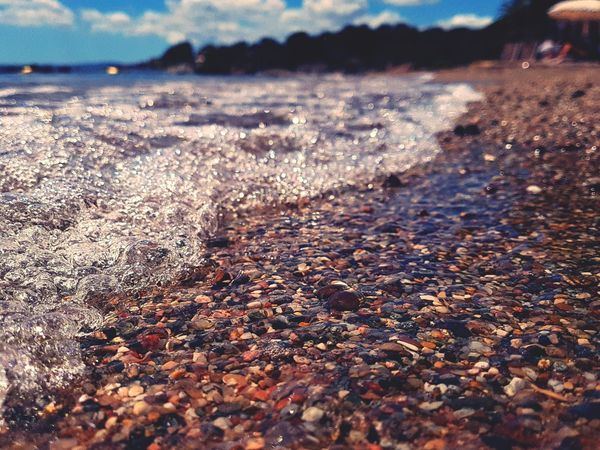 Water Nature Outdoors Beauty In Nature Scenics Beach Close-up Horizon Over Water Let's Go. Together. Saint Raphael Been There. Perspectives On Nature AI Now