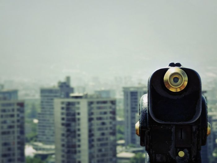 Buenos días! Cityscape Urban Skyline City Skyscraper Cityscape The Architect - 2017 EyeEm Awards Monocular One Eyed From A Hill From A Hill Top Object To Look Looking At The City Looking To The West City Life Balcony View Viewer Oriel Gazer Telescope View Telescope Prospect Glass EyeEm Selects The Architect - 2018 EyeEm Awards The Street Photographer - 2018 EyeEm Awards