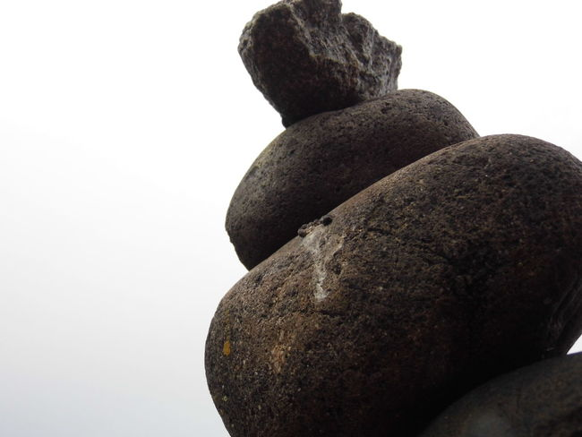 Bottom Close-up Nature No People Stack Stone - Object White Background Zen