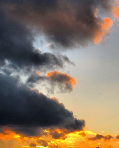 Last Evening's Sunset Beauty In Nature City Sky Cloud - Sky Clouds Evening Sky Nature No People Outdoors Sky Storm Cloud Sunset