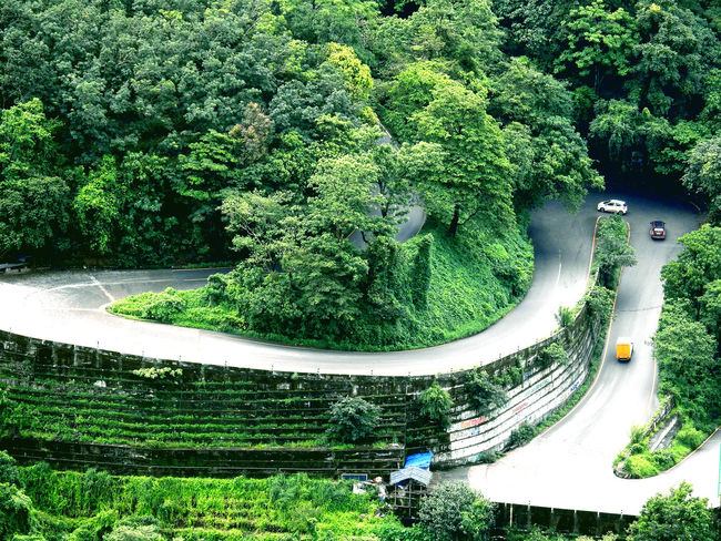 Road The Great Outdoors - 2017 EyeEm Awards The Week On EyeEm Beauty In Nature Day Green Color Hairpin Curve Mountain Nature Park - Man Made Space Plant Tree Water
