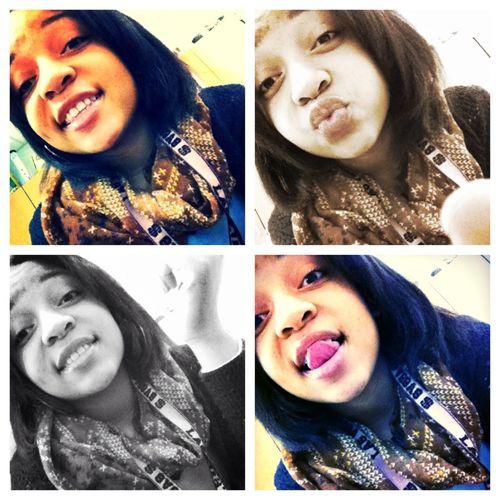 Yesterday at school . I was feeling myself