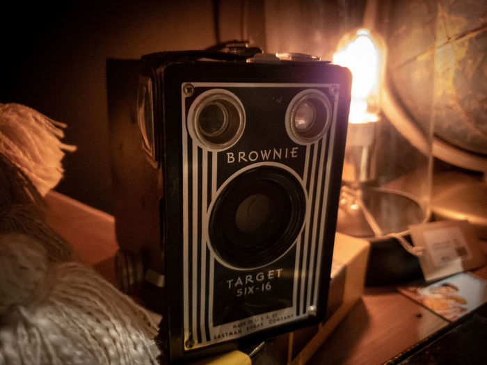 Camera - Photographic Equipment Vintage Photographic Equipment Illuminated Retro Styled Retro Camera Old School Nikkormat Historic Old-fashioned Old Edison Bulb Argus Film Film Grain EyeEmNewHere Capture Tomorrow
