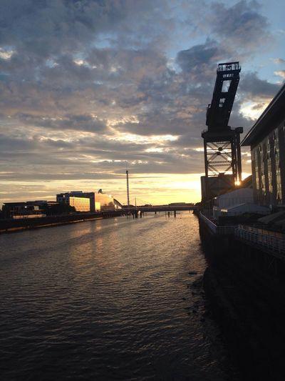 GlasgowArc RiverClyde Sunset Walkin Around #nofilter