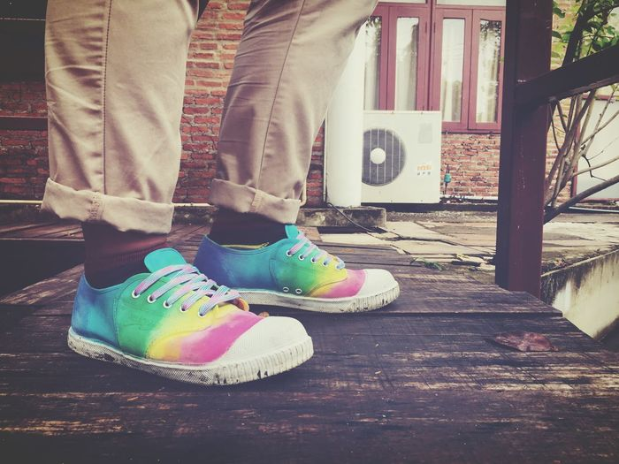 Rainbow Low Section Shoe Real People Human Leg Day One Person Men First Eyeem Photo