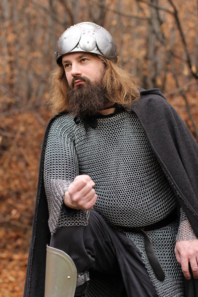 Fight Warrior Armour Armoured Autumn Battle Beard Bearded Chain Mail Chainmail Chainmaille Coustume Equipment Forest Got Helmet Historic History Iron Age Knight  Larp Medieval Medieval Warrior Medieval Weapons Old