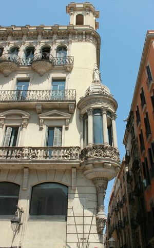 Building Exterior Outdoors Balcony Architecture Low Angle View No People Day Sky Travel Destinations Ramblas Barcelona Barcelonacity Cityscape Architecture_collection Architecture Streetphotography