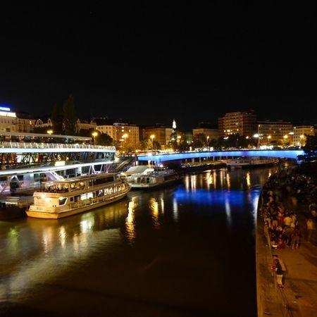 Vienna Night Life @ Donaukanal [1] Nightlife Nightview Vienna Wien
