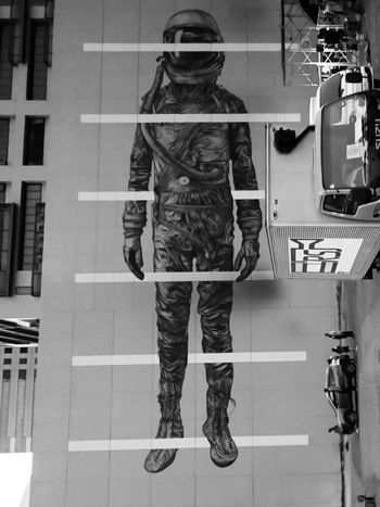 Eyeem Philippines Album Mural Art Urban Photography Outdoors Monochrome Photography Monochrome Full Length