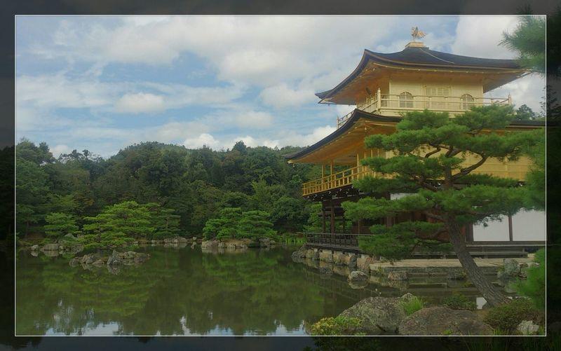 Scenery At 鹿苑寺(金閣寺) Kinkaku-ji Temple Pond Japanese Culture Japan