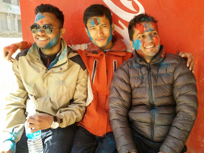 This is HOLI! festival of colours and warmth. Enjoying Life Hanging Out Hello World Thamel Street Streetphotography