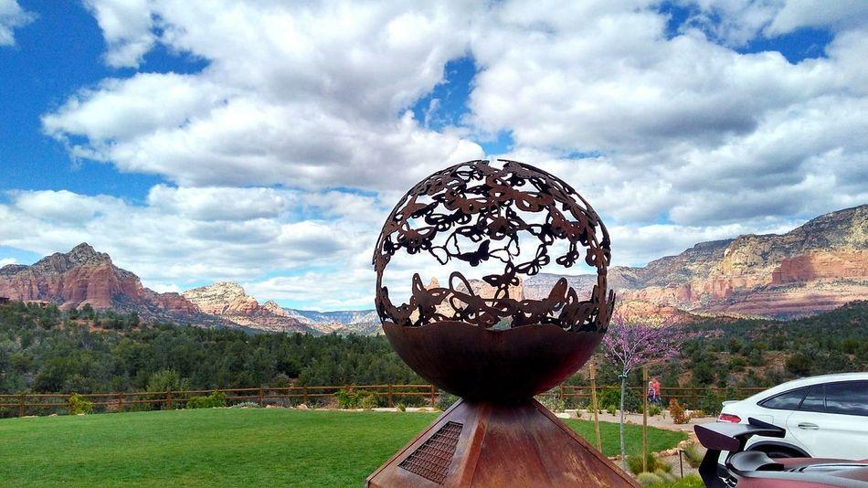 Cloud - Sky Sky Landscape No People Outdoors Day Sedona Sedona, Arizona Cars Rocks Red Rocks  Veiw Art ArtWork Art Piece Metal Structure The Week On EyeEm Postcode Postcards