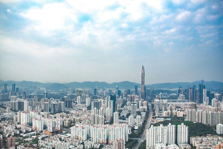 Building Exterior Cityscape City Sky Tall - High View Enjoying Life 深圳 Shenzhen