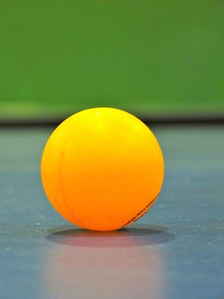 Table Tennis yellow ball Table Tennis Ball Ball Table Tennis Close-up Detail Gane Sport