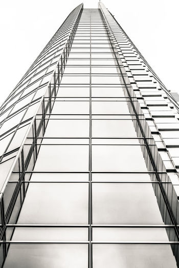 700D EOS Poland Warsaw Warsaw Poland Warszawa  Architecture Building Exterior Built Structure Canon Canon_photos Canonphotography City Clear Sky Diminishing Perspective Directly Below Low Angle View Metal Modern Office Office Building Exterior Pattern Skyscraper Tall - High