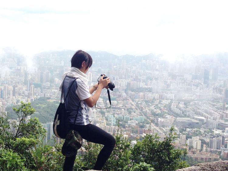Taking Photos On Hiking HongKong Lion Rock Hikingadventures EyeEm Indonesia ThatsMe Indonesian Girl EyeEm Gallery Happyday
