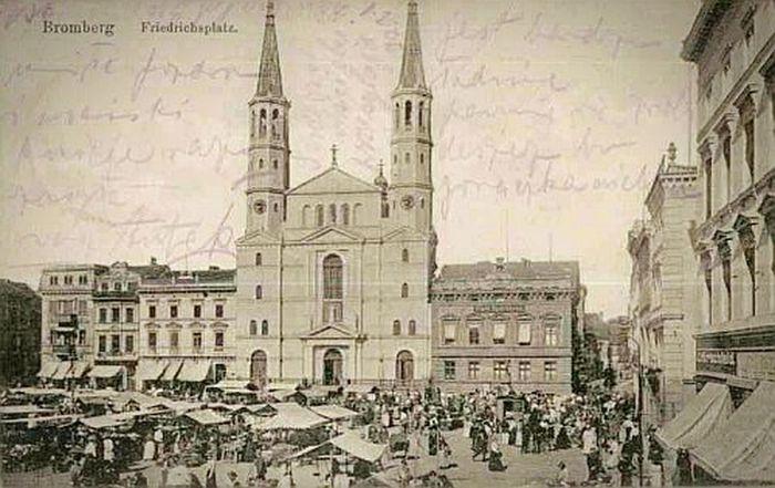 Bydgoszcz, Rynek Główny. Old Times Old Pic  Bydgoszcz Poland Polska Oski Oskarjursza
