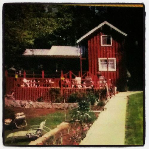 The cabin, built in 1951 by Jennings Brown and Lester Vaughn. Picture taken in 1986. Hiddenfalls