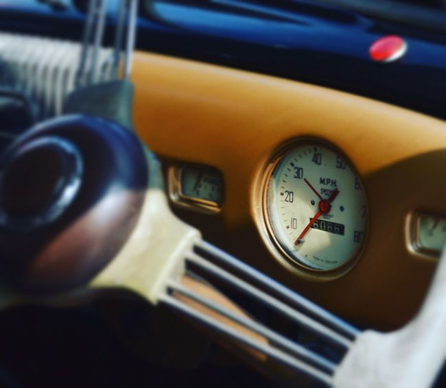 Close-up Gauge Old-fashioned Morris Minor 1000 Mode Of Transport Classic Car