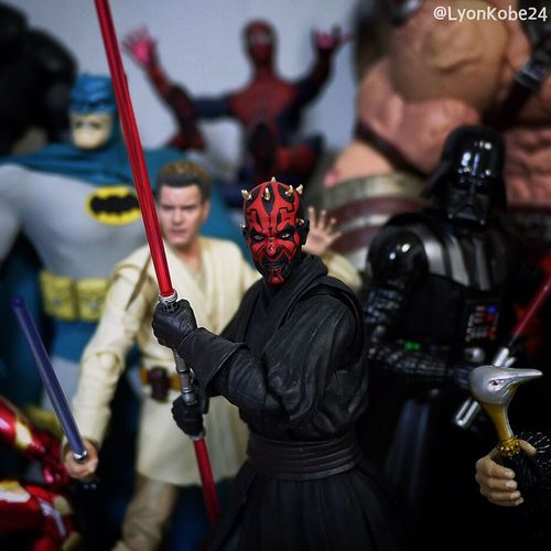 """At last we will have revenge."" Toycommunity Toyphotography Toys Actionfigures Toyphotographer Actionfigure Star Wars Starwars Jedi Sith DarthMaul Darth Maul Stormtrooper SHfiguarts"