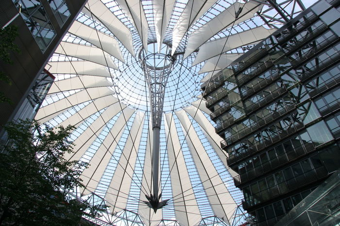 Architecture Built Structure Business City Concentric Day Futuristic Indoors  Low Angle View Modern No People Roof Top Sony Center Berlin Space