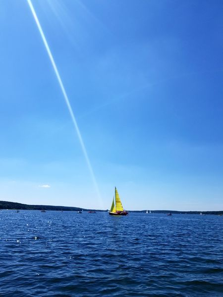 Horizon Over Water Blue Nature Sky Day Sea bOszkowo